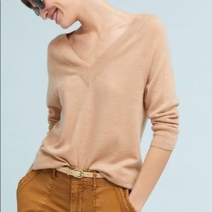 Anthropologie Moth V-Neck Pullover Sweater